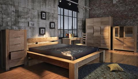 коллекция мебели для спальни Riva, кровать, шкаф