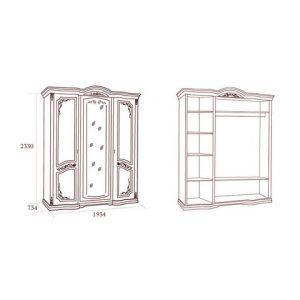 коллекция флориана, шкаф, трехдверный шкаф, шкаф с зеркалом