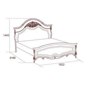коллекция престиж, кровать 160, кровать 180, кровать с ножной спинкой